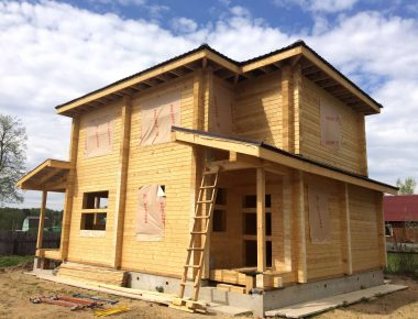 строительство дома из бруса камерной сушки