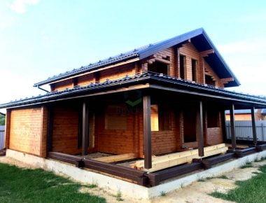 строительство дома из сухого бруса